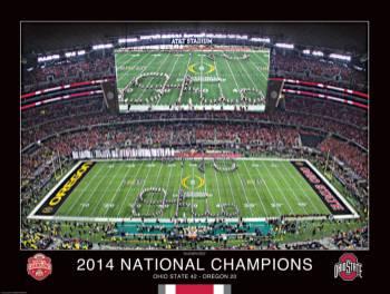 2014 OSU National Championship Poster - Unframed
